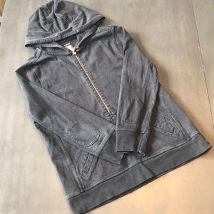 J. Crew vintage rugby hoodie. Black, large.